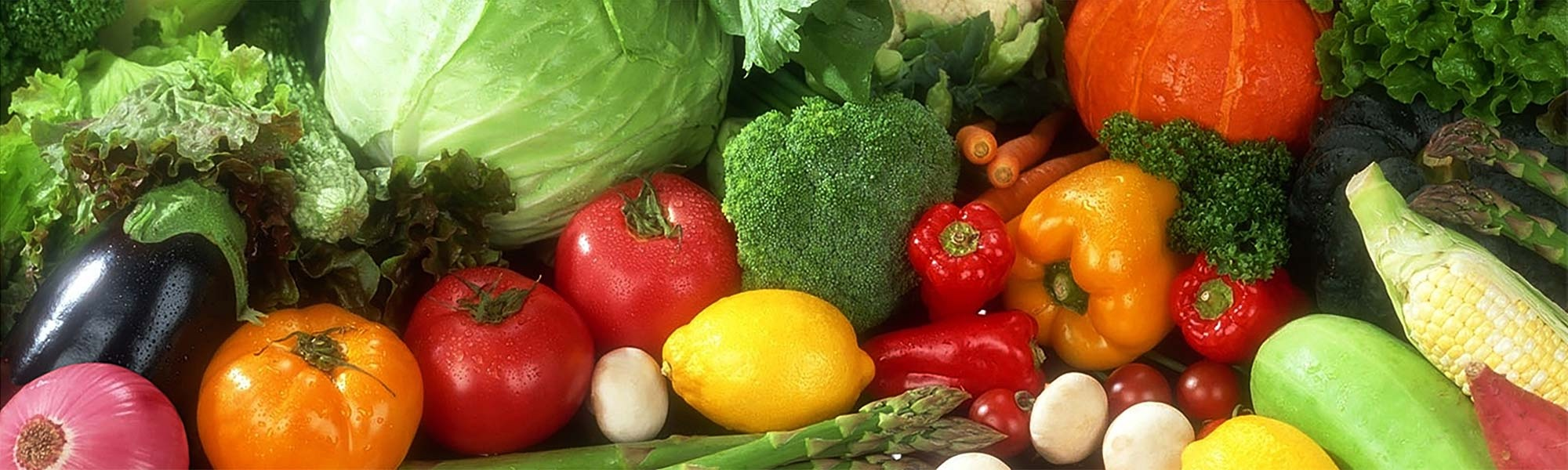 Assortment of fresh organic vegetables on a tabletop